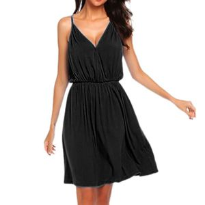 ROBE Femmes Casual vrac solide empire couleur manches c