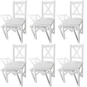 CHAISE Lot de chaises de salle à manger- Style contempor