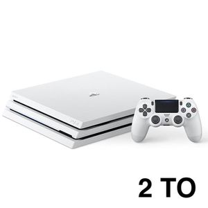 CONSOLE PS4 PS4 PRO BLANCHE 2TO