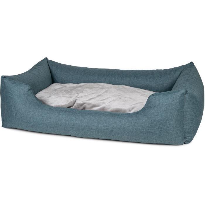 VADIGRAN Panier carré Ares - 120 cm - Turquoise - Pour chien