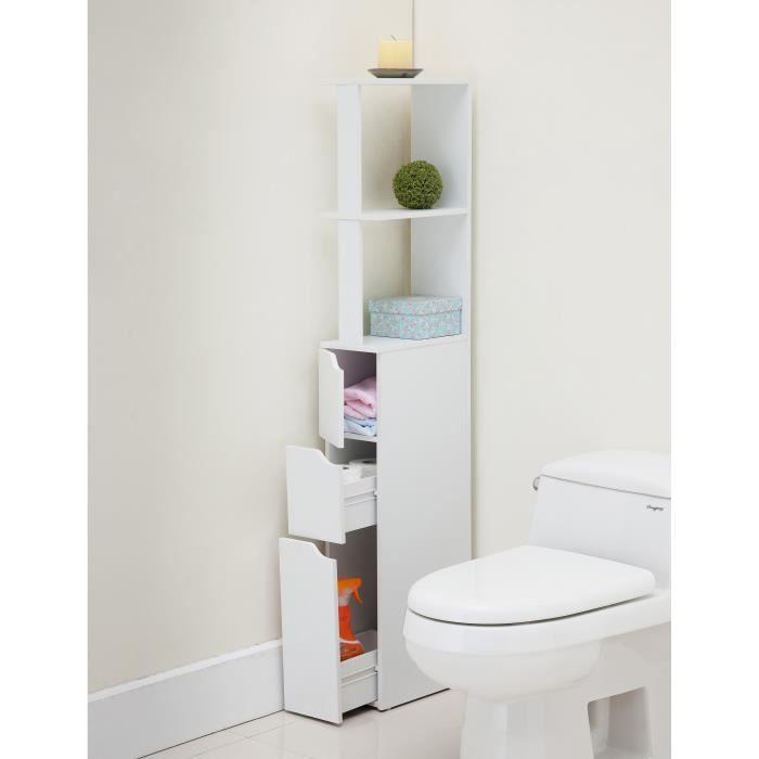 Top Colonne De Toilette L 15 Cm Blanc Mat Achat Vente Colonne Armoire Wc Top Colonne De Toilette Cdiscount