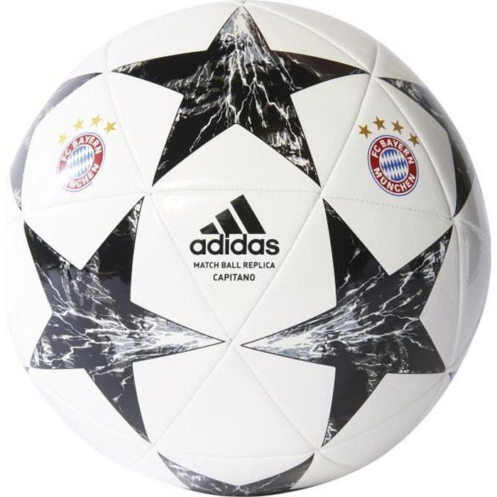 Ballon Finale 17 Bayern Munich Capitano - blanc-noir-blanc cristal-gris - Taille 5