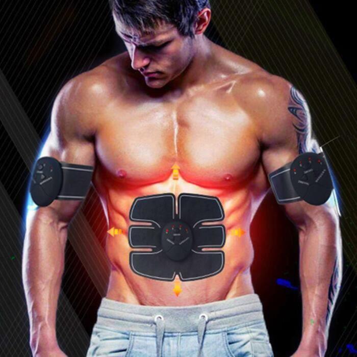 Electrostimulateur, Appareil de Musculation Abdominaux Bras Cuisses Ceinture abdo Appareil de Fitness pour Hommes Femmes