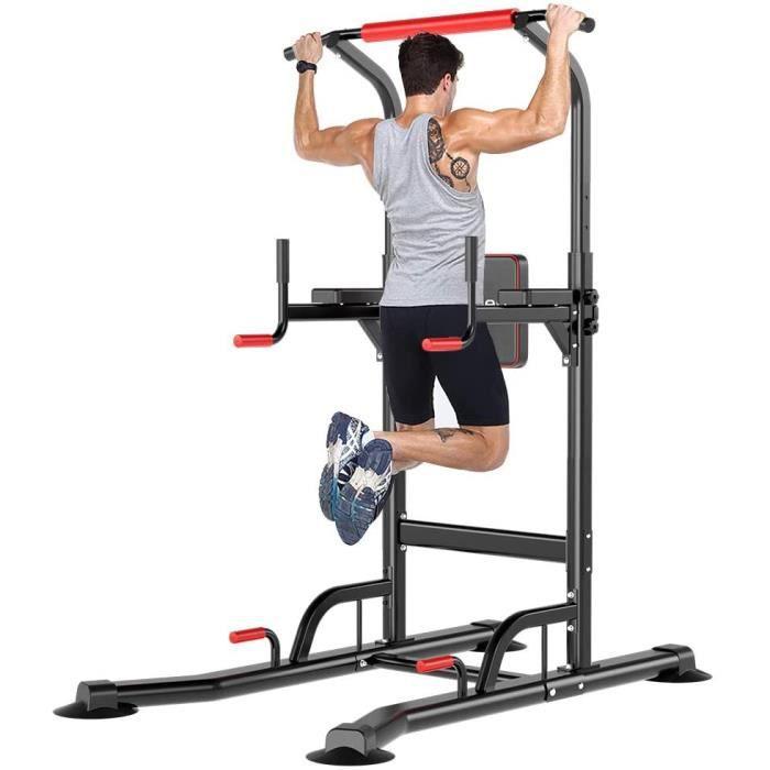 Chaise Romaine Barre de traction à Domicile Ajustable Station Musculation Dips Pullup pour Entraînement du Corps, 220lbs