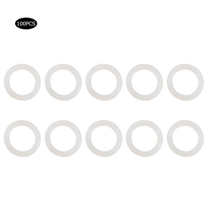 100pcs Joint Torique en Silicone Étanche Joint Résistant aux Hautes Températures Rondelle d'Étanchéité(20x3mm )