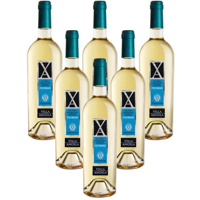 Villa Angela Offida DOCG Pecorino Vin blanc italien 6 bouteilles 75 cl.