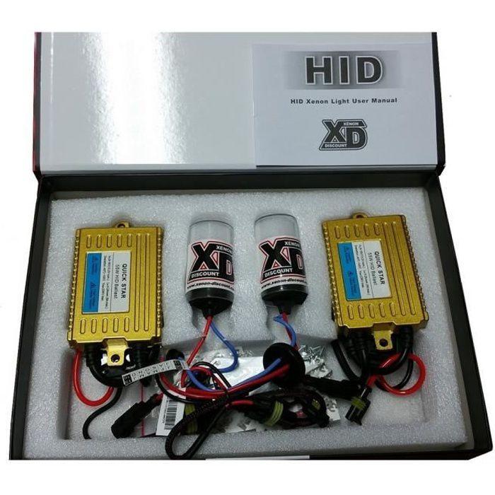 Kit xenon 55W H7 6000K QUICK START