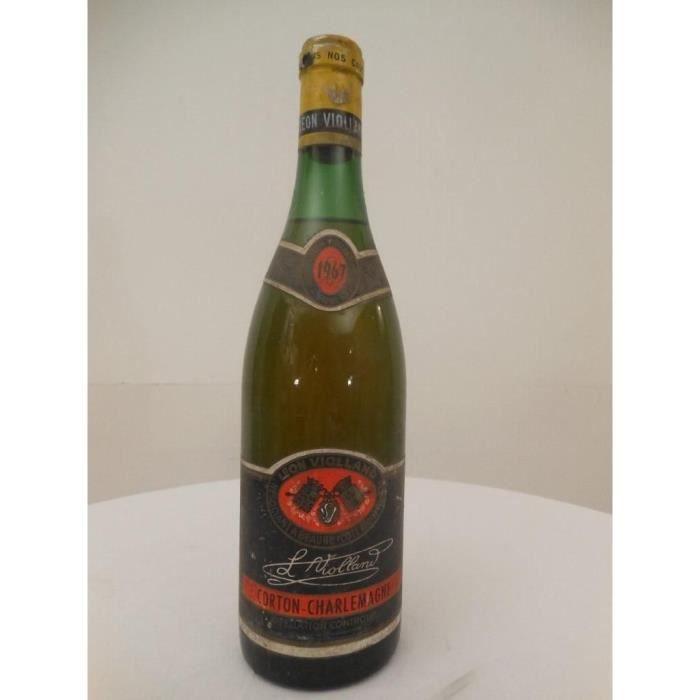 corton-charlemagne léon violland grand cru blanc 1967 - bourgogne france