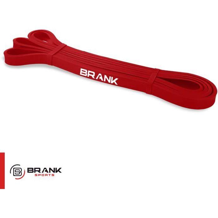 Bande Elastique de sport musculation, crossfit et fitness - Modèle rouge pour Résistance faible de 7 à 11 kg - Marque française
