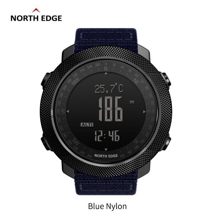 A North Edge APACHE Sports Smartwatch étanche 50 m natation altimètre baromètre boussole escalade militaire montre intelligente La