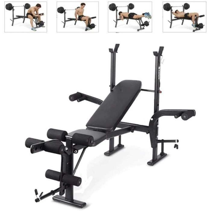 BANC DE MUSCULATION SXX Banc de Musculation Multifonction, Accueil Supination Boardweightlift Barbell Banc Rack, Presse appareil152