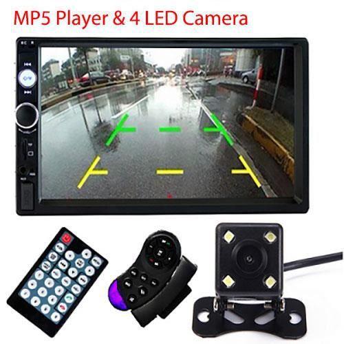 Contrôle et 4 LED Autoradio 7 pouces avec lecteur multimédia Bluetooth, 2-Din, universel, pour Volkswagen, Ni