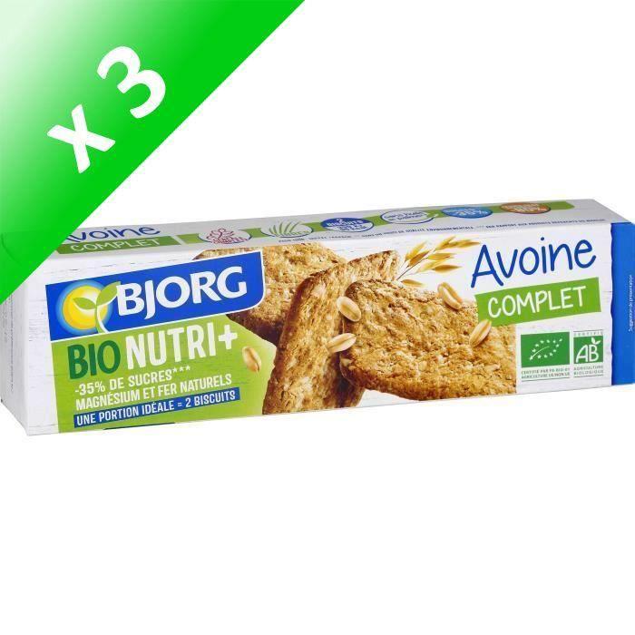 [LOT DE 3] Bjorg Biscuit Avoine Nature 130g