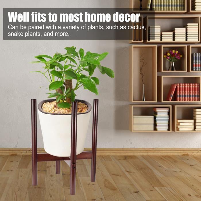 Dilwe Support de plante en Bambou Support de Pot de Fleur Support d'Affichage Intérieur Décor Chambre(S )