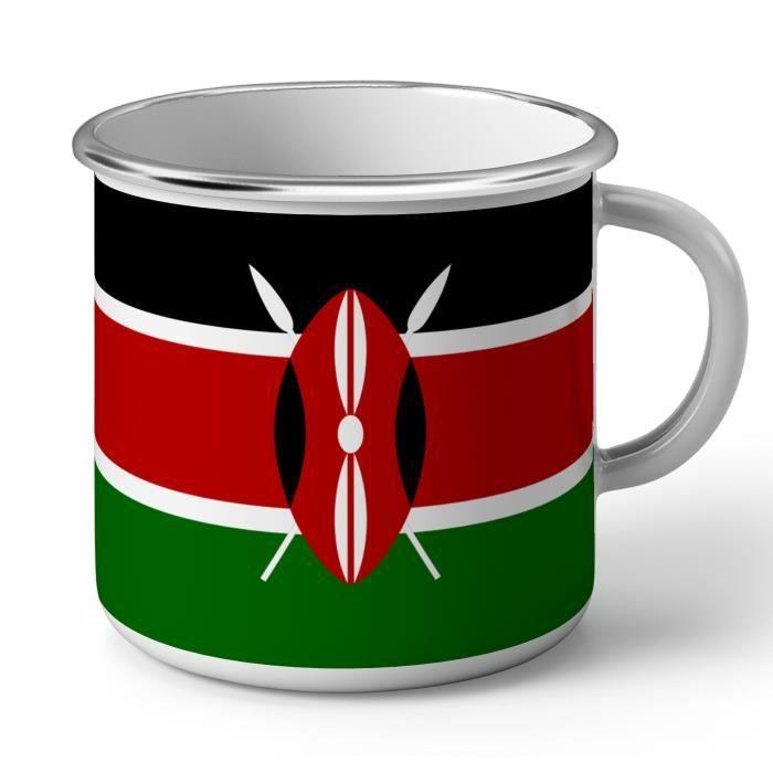 Mug en Métal Emaillé Drapeau Kenya Football Sport Equipe National Afrique