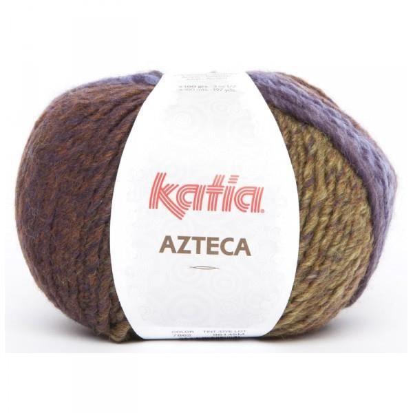 Laine AZTECA Katia 7862 Vert lilas