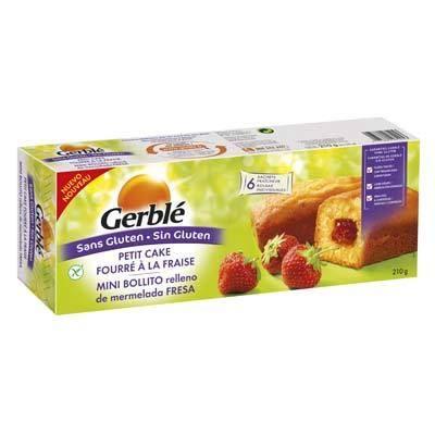 GERBLE Cake fourré sans gluten - Fraise - 210g