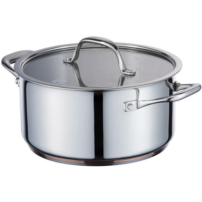 MasterChef cuisinière 24 cm en acier inoxydable cuivre
