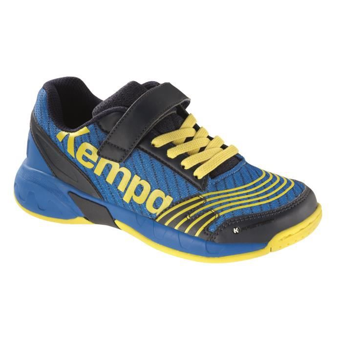 KEMPA Chaussures de Handball Attack Junior - Bleu / Jaune
