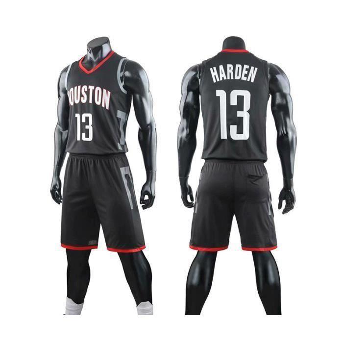 Maillot NBA Star Houston Rockets James Harden, T-Shirt De Basket-Ball pour Hommes Et Shorts De Basketball - Noir