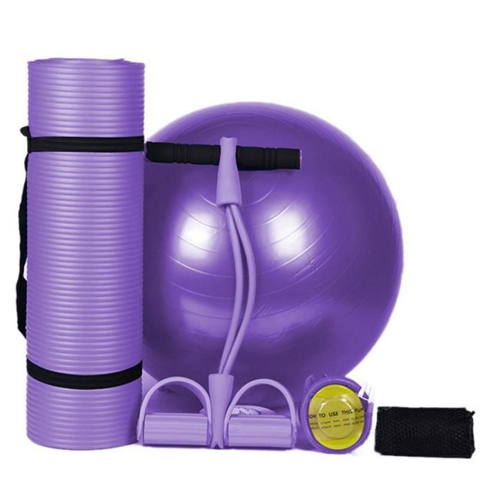 Nbr Tapis de Yoga 183X61Cm 10Mm Épaisseur Mince Tapis Yoga Antidérapant Tasteless Fitness Pilates Maison Exercices Gym Sport Pad