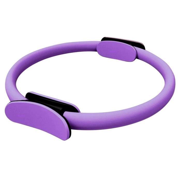 Anneau de Pilates Violet - Cercle à résistance de remise en forme pour tonifier les bras et les cuisses