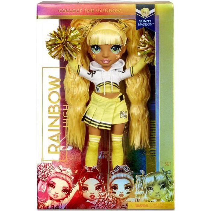 Zapf Creation 572053EUC Rainbow High Cheer Doll - Sunny Madison