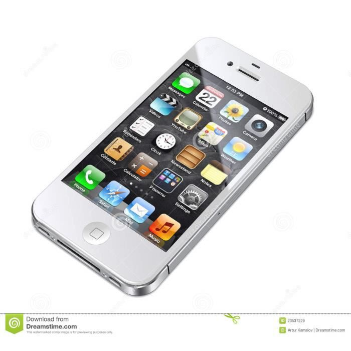 iphone 4s blanc 16go boite blancigine achat smartphone. Black Bedroom Furniture Sets. Home Design Ideas