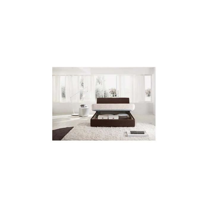 lit coffre chic 160x200 avec t te de lit rev te achat. Black Bedroom Furniture Sets. Home Design Ideas