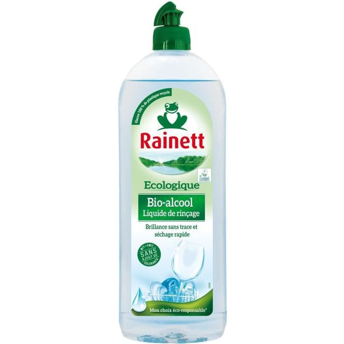 LIQUIDE LAVE-VAISSELLE RAINETT - Liquide de Rinçage Alcool Bio - 500 ml