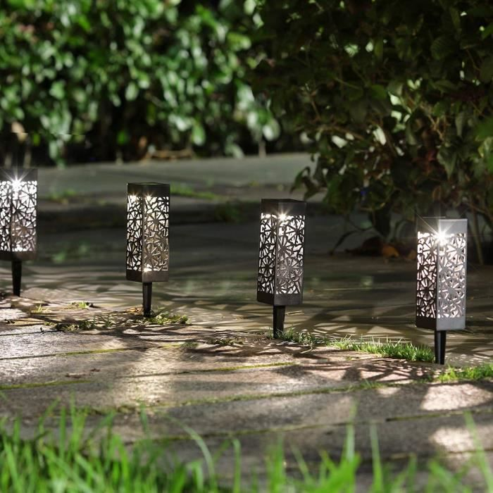 8pcs Lampe Solaire Exterieur De Jardin Borne Solaire Jardin Borne Jardin Solaire Sol Lampe De Jardin Exterieur Sur Pied 6500k Achat Vente 8pcs Lampe Solaire Exterieur Bientot Le Black Friday Cdiscount
