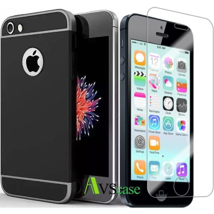 coque iphone 5s noire achat vente coque iphone 5s noire pas cher cdiscount. Black Bedroom Furniture Sets. Home Design Ideas