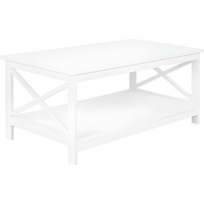 Table Basse Blanche Foster Achat Vente Table Basse Table