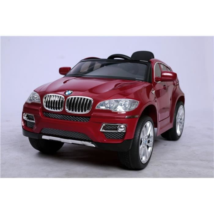 bmw x6 rouge version luxe voiture lectrique enfant 12v 2 moteurs t l commande parentale. Black Bedroom Furniture Sets. Home Design Ideas