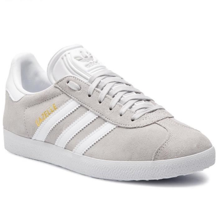 ADIDAS ORIGINALS Baskets Gazelle - Mixte - Gris clair