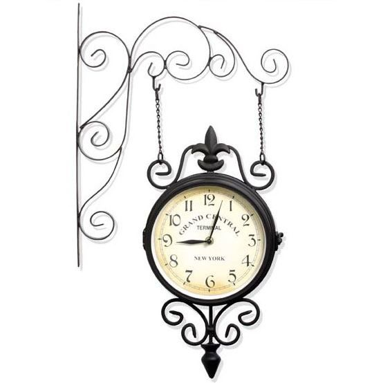 horloge de gare double face achat vente horloge horloge de gare double face cdiscount. Black Bedroom Furniture Sets. Home Design Ideas
