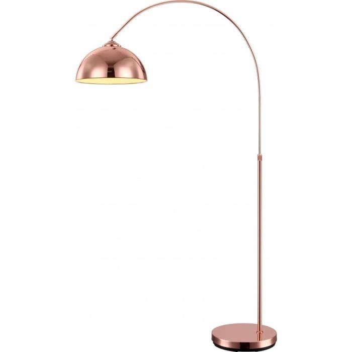 LAMPADAIRE Lampadaire LED 9,5W luminaire cuivre arqué réglabl
