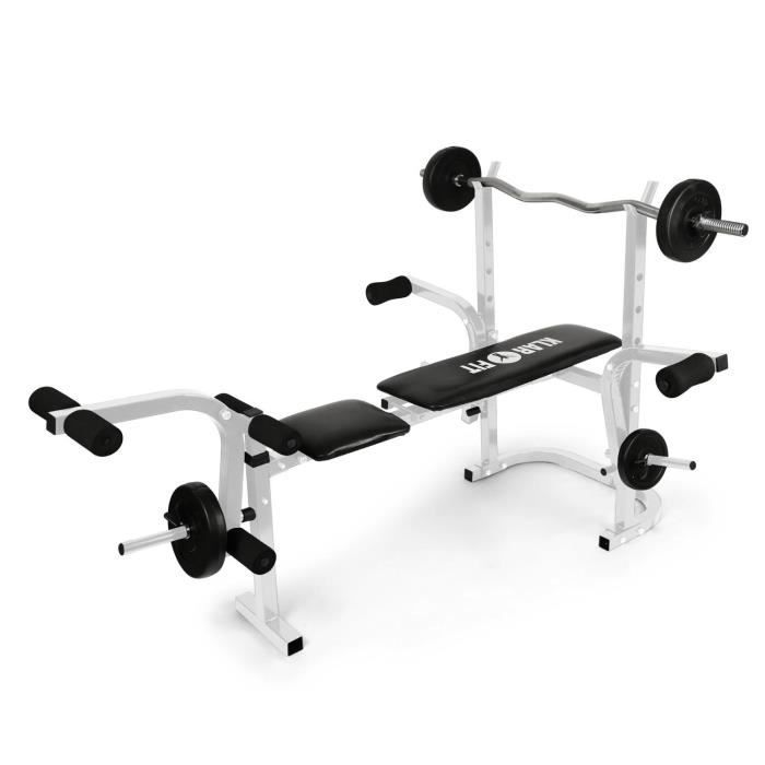 Klarfit Workout Hero Banc d entraînement de musculation avec support ... e64a55ff71d
