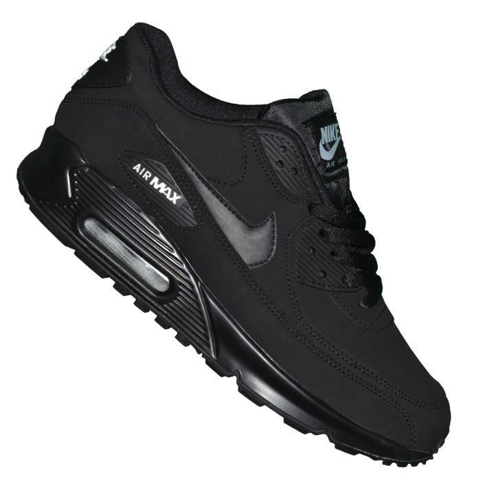 Nike -- Basket - Femme - Air Max 90 Essential 111 - Noir Noir Daim ...