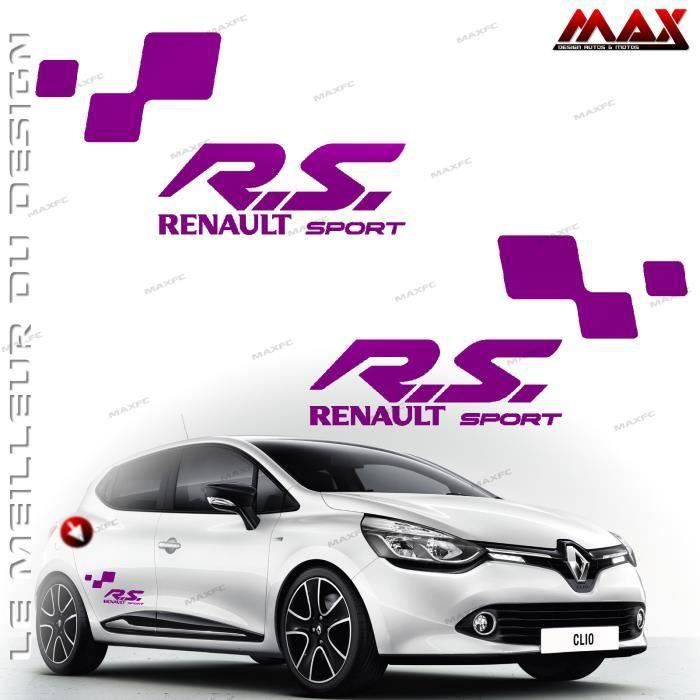 2 stickers renault sport bordeau twingo clio m gane captur sc nic kadjar autocollant adh sif. Black Bedroom Furniture Sets. Home Design Ideas