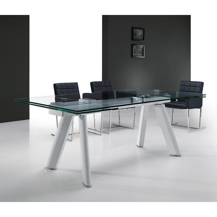 table extensible rallonges int gr es vivalto achat vente table manger table extensible. Black Bedroom Furniture Sets. Home Design Ideas