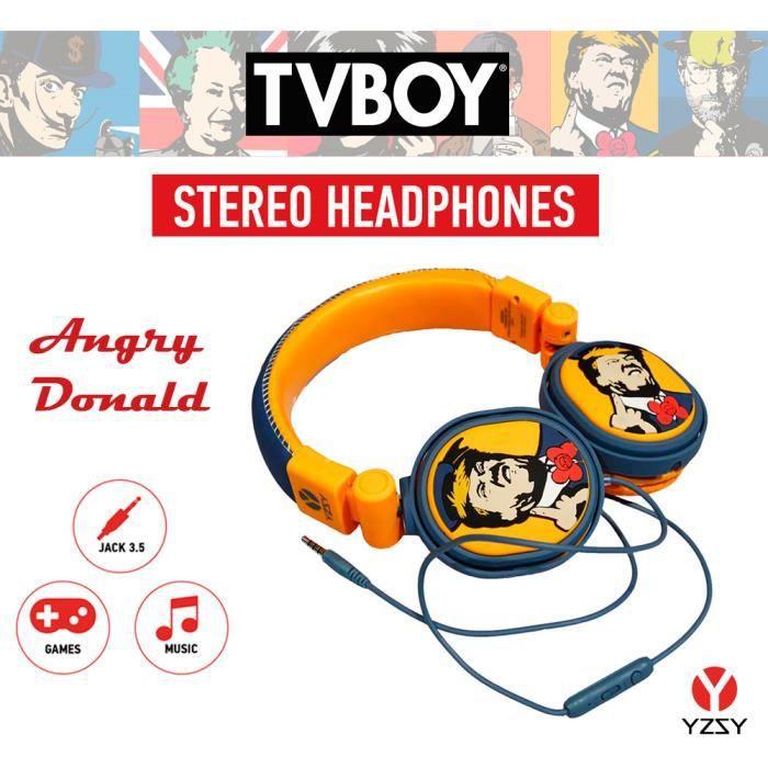 CASQUE - ÉCOUTEURS YZSY TVBOY Écouteurs Bluetooth - Donald