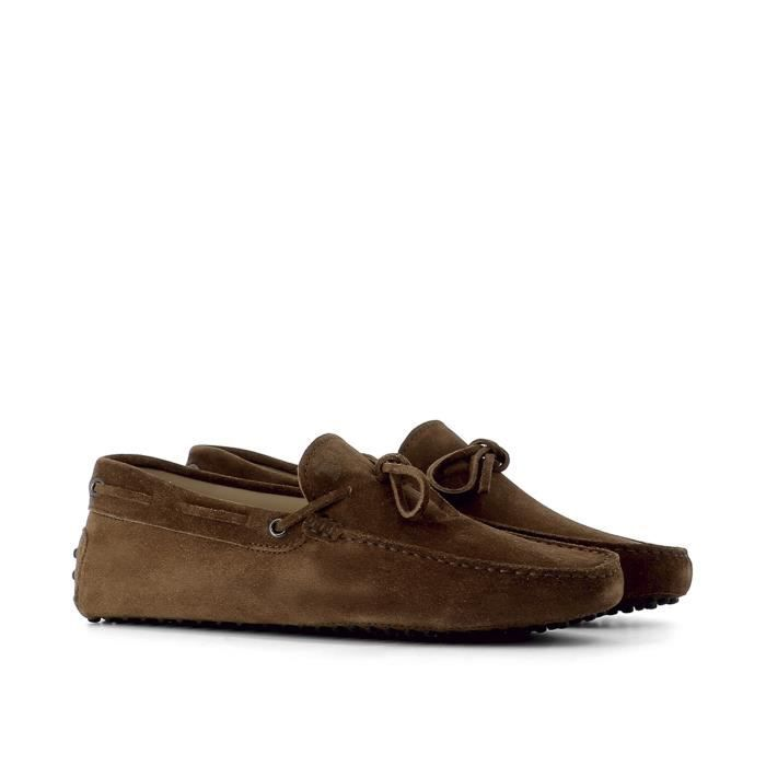 TOD'S HOMME XXM0GW05470RE0S013 MARRON SUÈDE MOCASSINS