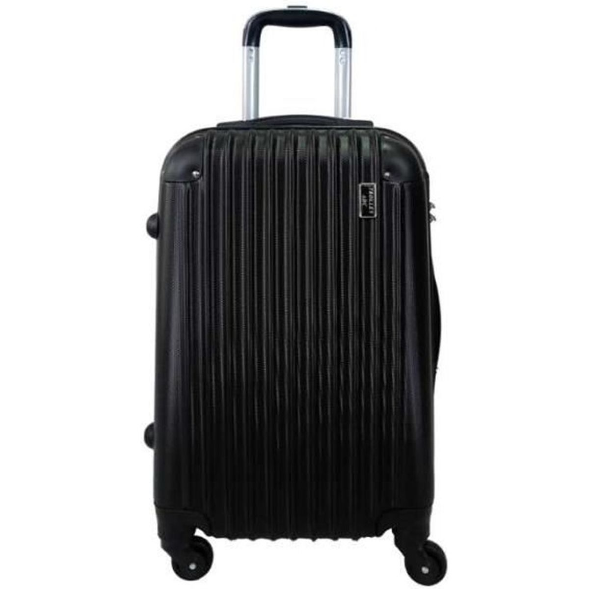 valise trolley grande taille 4 roues 75cm trolley adc rigide ray noir noir achat vente. Black Bedroom Furniture Sets. Home Design Ideas