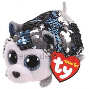 PELUCHE Peluche Teeny Ty flippables sequins Slush le chien