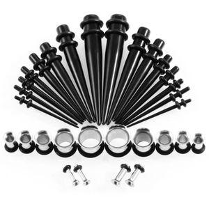 36pcs Spirale Taper Plugs Big Jauges 14G-00G Caractéristique Oreille Stretching Set