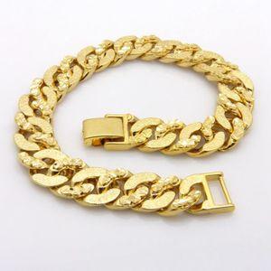 BRACELET - GOURMETTE Bracelet de poignet Or jaune 18k plaqué Bracelet h