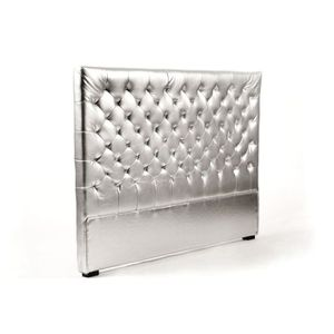 TÊTE DE LIT Tête de lit capitonnée argent 160 cm