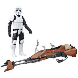 FIGURINE - PERSONNAGE Figurine avec véhicule Star Wars - Biker Scout