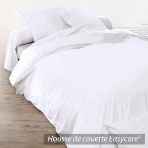 housse de couette coton 300x240 blanc achat vente. Black Bedroom Furniture Sets. Home Design Ideas